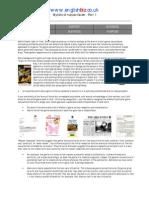 Stylistic Analysis 1