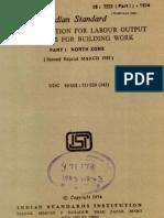 Is 7272- Standard Labor Productivities
