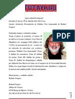 Roland Forgues presenta libros