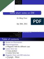Some short notes on EM