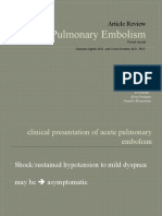 Acute Pulmonary Embolism Journal