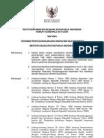 KMK No. 442 Ttg Pedoman Penyelenggaraan Kesehatan Haji Indonesia