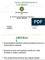 An Overview of the Trans Miss On Capacity of Wireless Networks