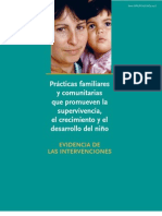 Prácticas familiares y comunitairas que promueven la supervivencia, el crecimiento y el desarrollo del niño. Evidencias de las intervenciones.