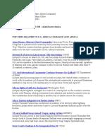 AFRICOM Related News Clips 29 April 2011