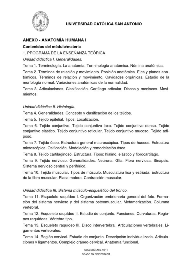 ANEXO- 61 1 1S BSC 6 Anatomia Humana I 1011