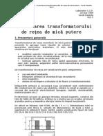 Proiectarea Transformatorului de Retea Monofazic Rezolvare