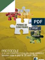 Protocole Permis de Construire en Zone Agricole