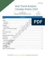 1topic Wise Trend Analysis General Studies Prelim 2010