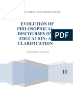 Evolution of Philosophical Discourses on Education (Aut (1)
