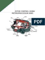 Dc Motor Control Using 8085