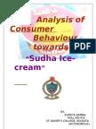 Analysis of Consumer Behaviour Towards Sudha Ice-cream