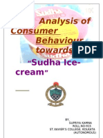 Analysis of Consumer Behaviour Towards Sudha Ice-cream