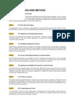 8D-Problem Solving Method or Tools