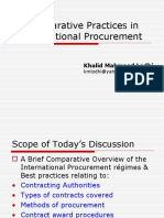 Practices in International Procurement