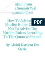 How to Advise the Muslim Rulers & How Not to Advise the Muslim Rulers