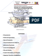 Proyecto Maestría en Administración Gerencial y Organizativa