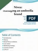 NIVEA umbrella branding