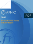 Afnic French Domain Name Report 2009