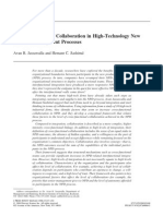An Examination of Collaboration in High-Technology New Product Development Processes
