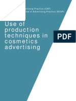 CAP and BCAP Help Note Use of Production Techniques in Cosmetics Advertising