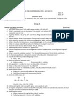 Hissan Pre-Board Exam 2067 Chemistry XI