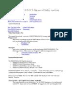REXXTOOLS MVS General Information