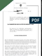 CREG075-1999 Reglas comerciales para regulación secundaria de frecuencia