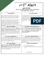 First Alert April 29,2011