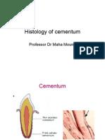 Histology of Cementum
