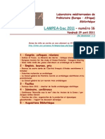 LAMPEA-Doc 2011 – numéro 16 / Vendredi 29 avril 2011