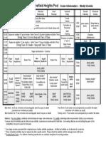 Heights Pool  - Schedule/Horaire 2001