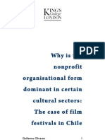 Why is the  nonprofit  organisational form  dominant in certain  cultural sectors