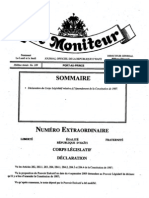 Amendement Constitution de 1987 - Le Moniteur  No. 109