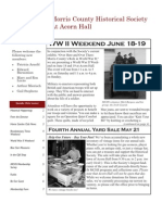 Morris County Historical Society Newsletter Spring 2011