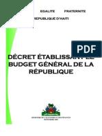 DÉCRET ÉTABLISSANT LE   BUDGET GÉNÉRAL DE LA   RÉPUBLIQUE - Sept. 2005