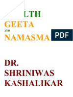 Health Geeta and Namasmaran Dr Shriniwas Kashalikar