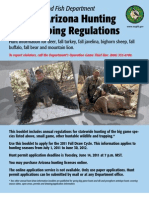 Arizona Hunting & Trapping Regulations 2011-12