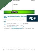 U.S. Fault Lines GRAPHIC - Earthquake Hazard MAP