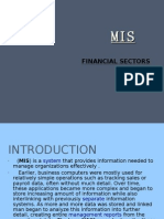 Mis and Financial Sector