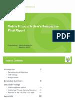 TRUSTe Mobile Privacy Report