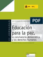 Educacion Para La Paz La Convivencia Democratic A y Los Derechos Humanos