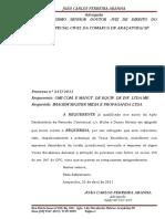 Petição desistencia da Ação - Acordo Extrajudicial