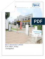 Mba Projects-ipca Laboratories Ltd