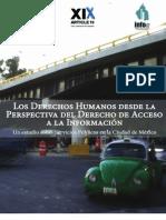 Los Derechos Humanos desde la perspectiva del Derecho de Acceso a la Información. Un estudio sobre Servicios Públicos en la Ciudad de México