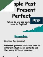 Simple Past vs. Present Perfect Tense
