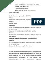Dra. Cristina Zareen Rosso La Familia Como a Del Delito
