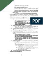 Administrative Law Outline Reynolds)
