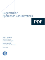 Jacobs & Schneider (GE Energy)- May 2009 -Cogeneration Application Considerations