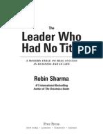 The Leader Who Had No Title Robin Sharma Pdf